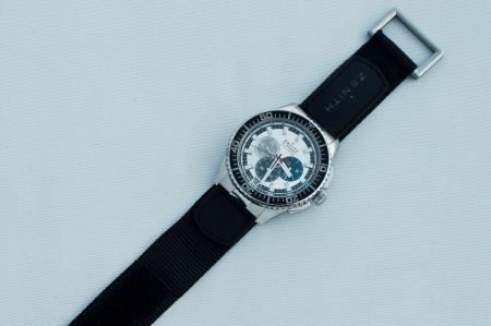 The Chronograph Zenith El Primero Stratos Flyback Striking 10th Tribute to Felix Baumgartner.