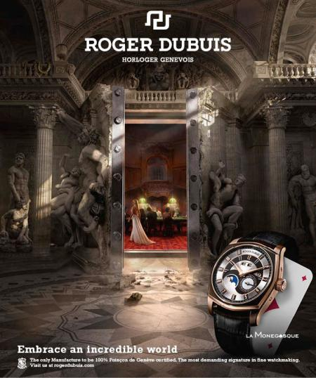 The Roger Dubuis advertising campaign has won the Premier Prix du Jury in the Print/Poster category, awarded on 26 October 2012 by the Swiss publishing house, Ringier.