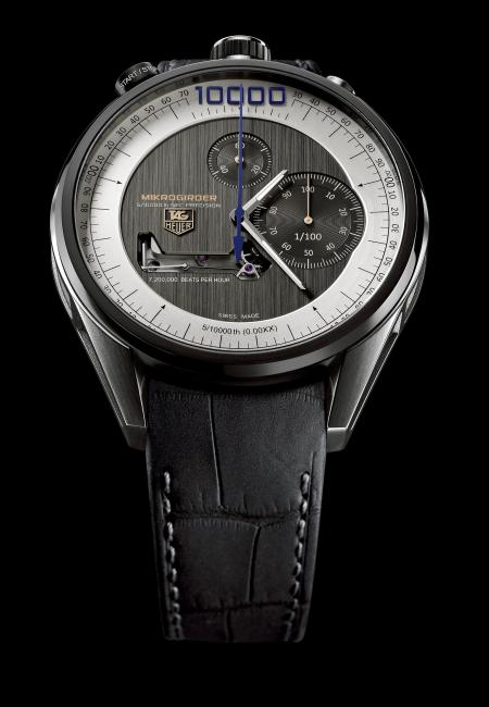 The TAG Heuer Mikrogirder Chronograph won the 2012 Aiguille d'Or prize.