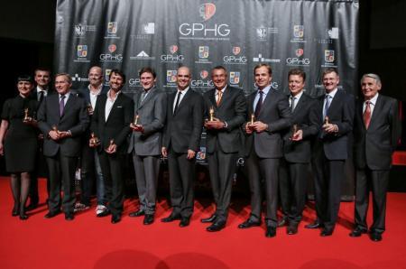 The representatives of the watch brands prize-winners of the Grand Prix d'horlogerie de Genève.