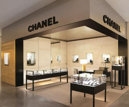 The Chanel Watch boutique at the Galeries Lafayette in Paris.