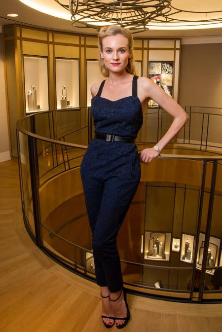 Diane Kruger at Jaeger-LeCoultre Place Vendome Boutique.