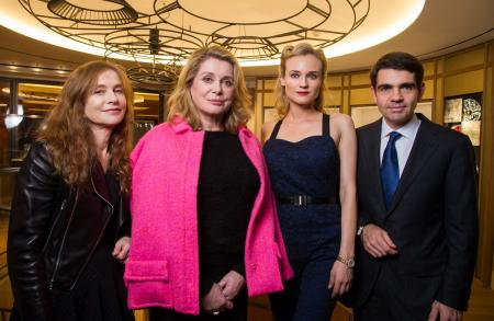 Isabelle Huppert, Catherine Deneuve, Diane Kruger and Jerome Lambert.
