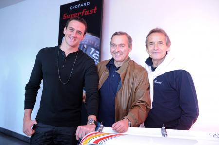 Ryan Lochte, Karl-Friedrich Scheufele and Jacky Ickx.