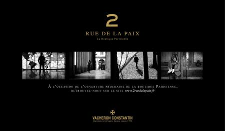 Vacheron Constantin makes an appointment with you 2 rue de la Paix.