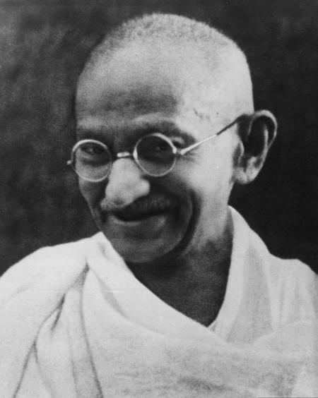 The Mahatma Gandhi.
