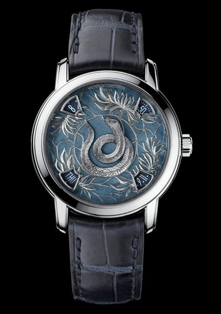 The Legend of the Chinese Zodiac - Year of the Snake - Platinum - Grand Feu Enamel Dial - Alligator Strap