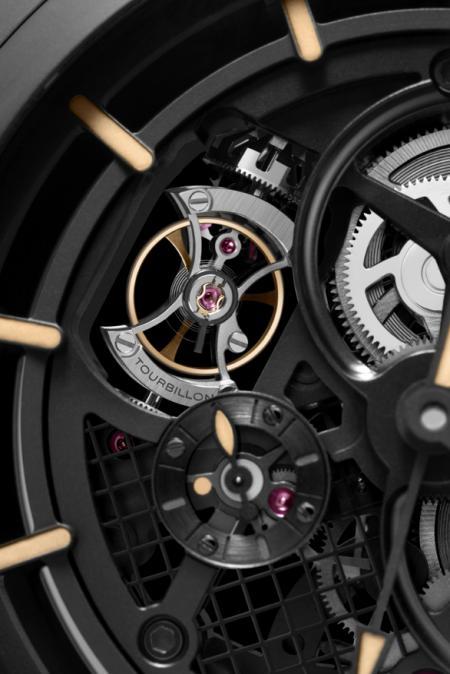 Panerai - Pocket Watch Tourbillon GMT Ceramica 59 mm - Tourbillon details