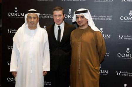 Mr. Abdul Hamied Seddiqi, Vice Chairman Ahmed Seddiqi & Sons – Mr. Antonio Calce, CORUM Partner & CEO – Mr. Mohammed Abdulmagied Seddiqi, VP Sales & Retail Ahmed Seddiqi & Sons.