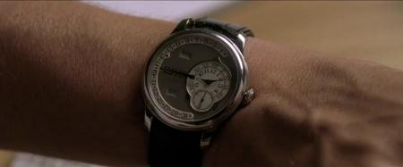 The F.P.Journe Octa Calendrier on the wrist of Jean Dujardin in the movie Möbius.
