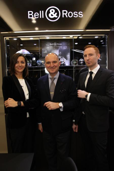 Carlos Rosillo, President of Bell & Ross, during the inauguration, the 27th february, of the Bell & Ross store in à Vienna.
