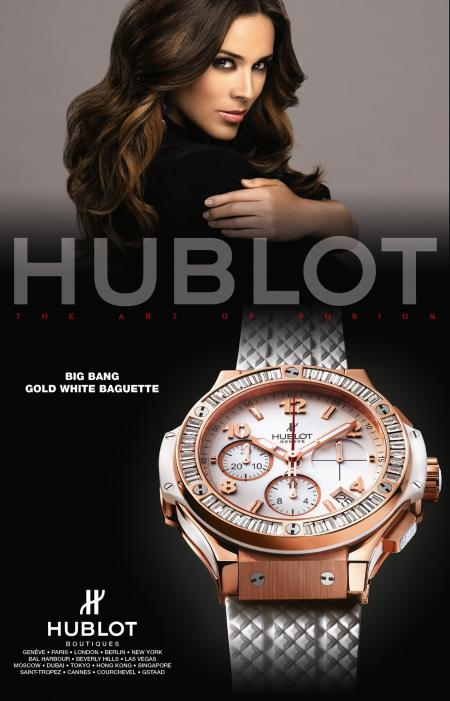 Hublot advertising campaign with Jacky Bracamontes.