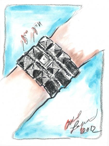 Karl Lagerfeld Zip wist watch.