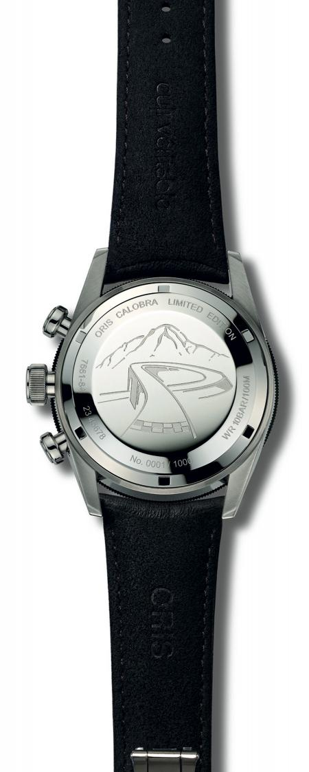 The Oris Calobra Limited Edition. Backside view.