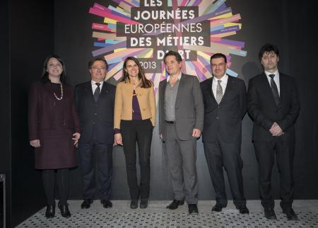 From left to right : Sylvia Pinel, Jean-Michel Delisle, Aurélie Filippetti, Jean de Loisy, Juan-Carlos Torres, Serge Nicole