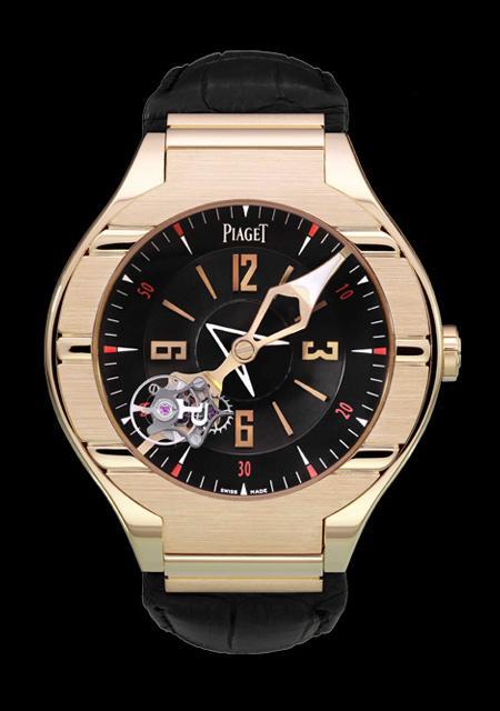 Piaget Polo tourbillon - Pink gold case - Hand-winding movement - Unique Piece for Dubail