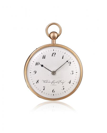 Ref. 10302 - 1812 - Pocket watch, quarter-repeater, 18K pink gold, guilloché case. Enamel dial with 12 Arabic numerals, outer
