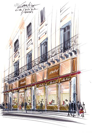 Cartier - A new Parisian shop in 12 Boulevard of the Capucines