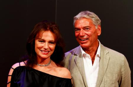 Jacqueline Bisset and Jean-Marc Jacot, CEO of Parmigiani
