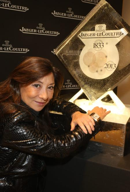 Barbara Bui chose a Reverso Squadra watch for Jaeger-LeCoultre event Place Vendôme copyright Michel Dufour