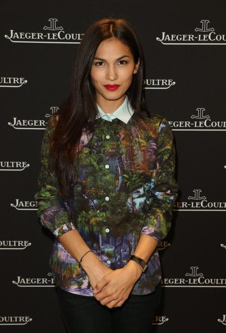 Elodie Yung wearing a Reverso watch at Jaeger-LeCoultre event Place Vendôme copyright Michel Dufour