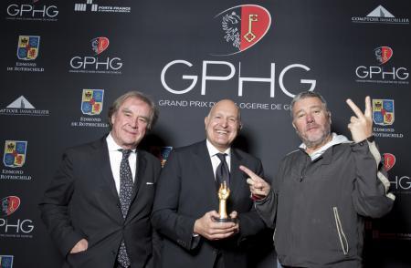 M. Sofisti, CEO Girard-Perregaux, Philippe Starck and J.M. Wilmotte
