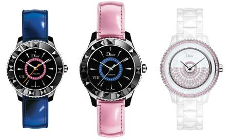 DIOR VIII CERAMIC AND METALLIC PINK AND BLUE STRAP - LAUNCH: JANUARY 2014