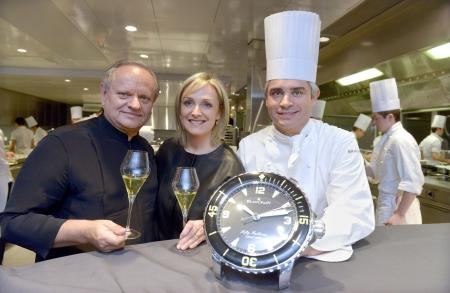 Joël Robuchon, Brigitte and Benoit Violier
