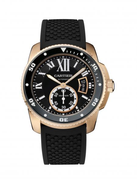 Calibre de Cartier Diver or rose