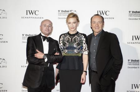 Georges Kern with Cate Blanchett and Kevin Spacey at the Dubai International Film Festival