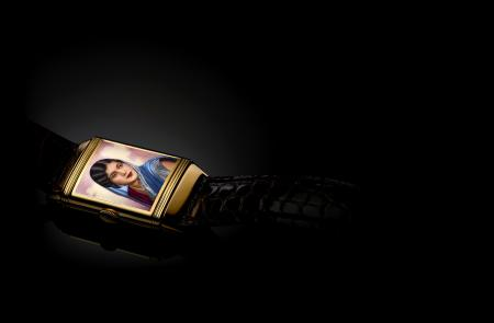 Reverso with enamelled portrait of an Indian beauty – Jaeger-LeCoultre Calibre 410