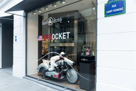 B-Rocket, the Bell & Ross revolutionary airplane-motorcycle will be exhibit at the famous concept-store before going in a worldwide tour.