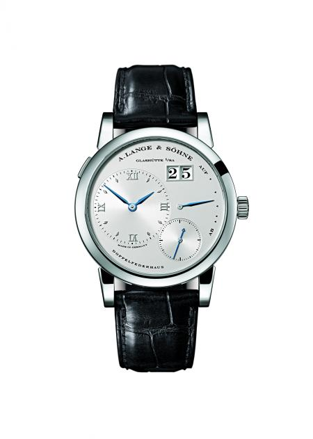 A rarity: only a few pieces of the LANGE 1 with stainless steel case were manufactured.