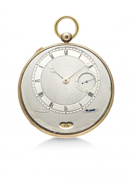 The Breguet no°4039, an extremely fine half quarter repeating watch with eccentric hour dial and the indication of the date
