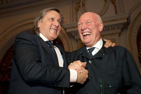 Ilie Nastase and Jean-Claude Biver, CEO of Hublot.