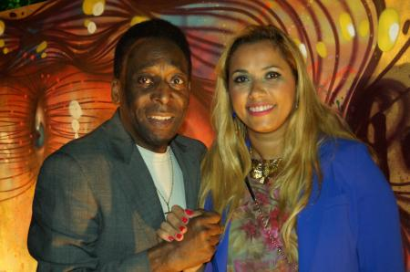The King Pelé with Panmela Castro