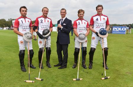Piaget and the England polo team - Ollie Cudmore, Mark Tomlinson, Philippe Léopold-Metzger, CEO Piaget, James Beim and Luke Tomlins