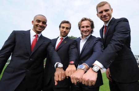 JEANRICHARD & Arsenal. T.Walcott, M.Flamini, B.Grande, P.Mertesacker