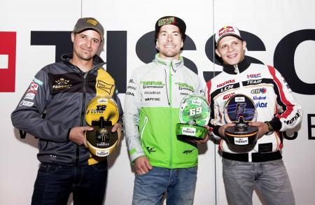Collection Tissot MotoGP™ 2015 Premier - Tissot ambassadors : Nicky Hayden, Stefan Bradl and Thomas Lüth