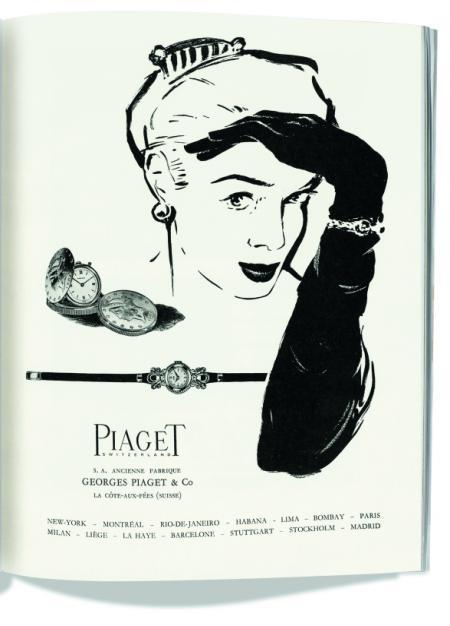 Piaget Ad. La Suisse Horlogère. 1955 - ©Archives Piaget