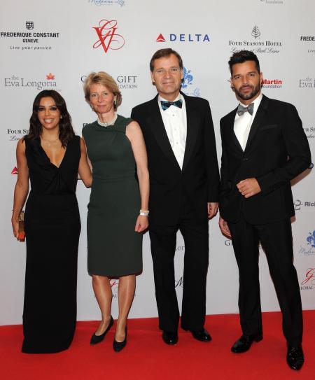 Eva Longoria, Ricky Martin, Peter Stas & Aletta Stas