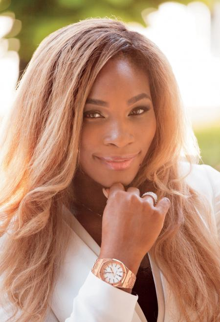 Serena Williams wearing a Royal Oak 37mm in rose gold Credits: Munster, Revolution Magazine