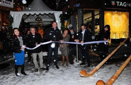 Opening of the Zenith boutique in Zermatt