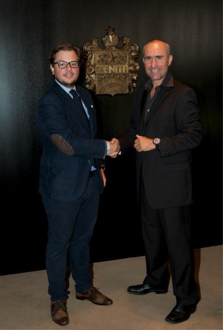 S. Peterhansel & C. Hanus (Zenith Brand Director North Europe & France)