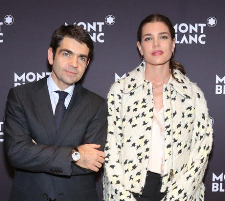 Jérôme Lambert, CEO of Montblanc, and Charlotte Casiraghi