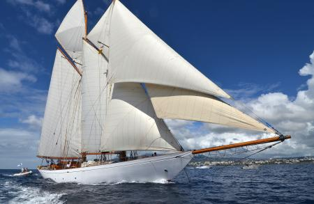 Altair, the winner of the Panerai Transat Classique 2015