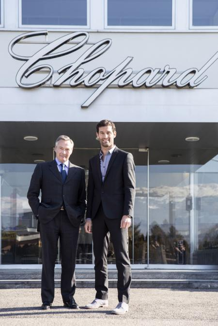 Mark Webber and Karl-Friedrich Scheufele, Co-President of Chopard
