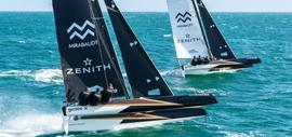 The two trimarans Spindrift Racing - Zenith