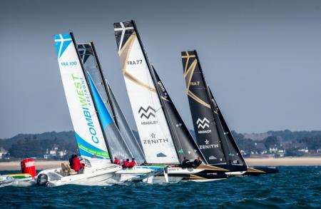 Spi Ouest France Intermarché regatta - Trimarans Spindrift Racing - Zenith - © Eloi Stichelbaut