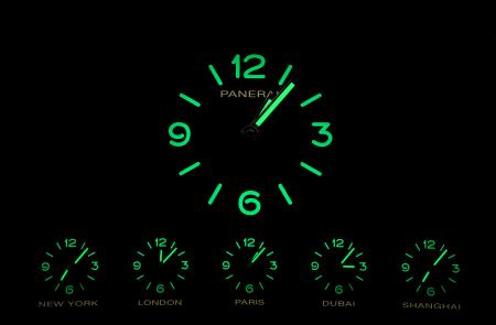 The world time clock of Panerai